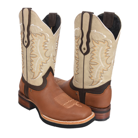 Rodeo Square Boot // Honey (US: 7EE)