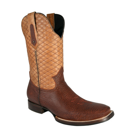 Rodeo Square Boot Bull Shoulder // Cognac (US: 7EE)