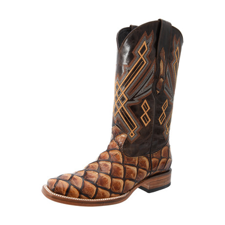 Rodeo Square Boot Piraruccu Print // Shedron (US: 7EE)