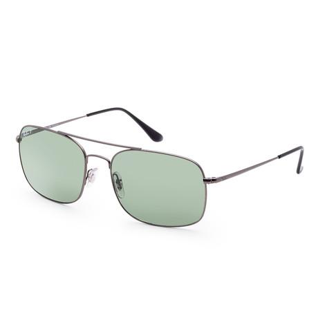 Men's Designer Sunglasses // 60mm // Matte Gunmetal Frame