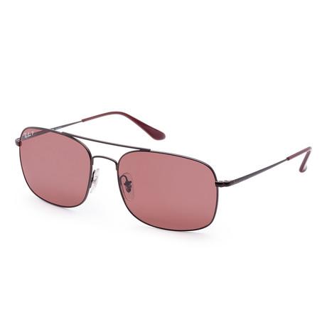 Men's Designer Sunglasses // 60mm // Matte Brown Frame