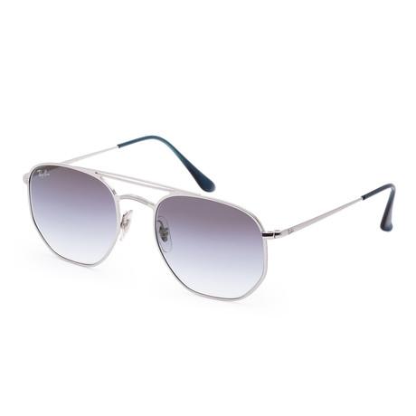 Unisex Designer Sunglasses // 54mm // Demi Gloss Silver Frame