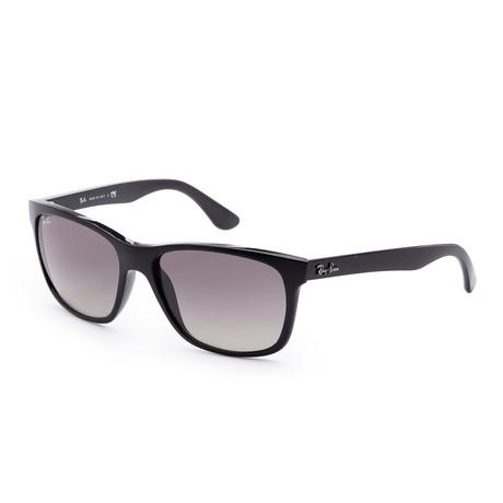 Men's Wayfarer Sunglasses // 57mm // Shiny Black Frame