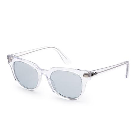 Unisex Meteor Evolve Sunglasses // 50mm // Transparent Frame + Blue Lens