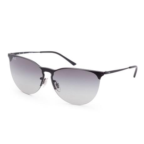 Unisex Designer Sunglasses // 41mm // Rubber Black Sunglasses