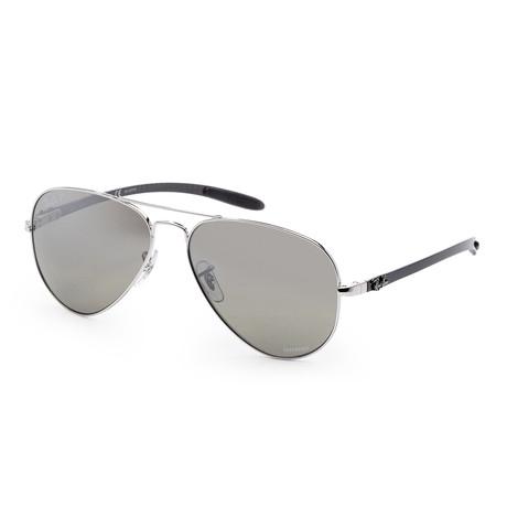 Unisex Chromance Sunglasses // 58mm // Silver Frame