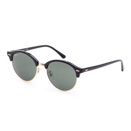 Unisex Clubround Sunglasses // 53mm // Black Frame