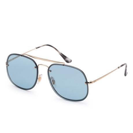Unisex Blaze Sunglasses // 58mm // Gold Frame