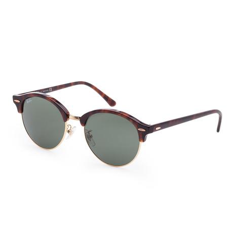 Unisex Clubround Sunglasses // 53mm // Red Havana Frame