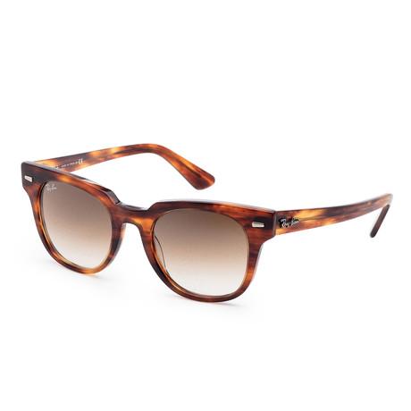 Unisex Meteor Classic Sunglasses // 50mm // Striped Havana Frame + Gradient Brown Lens