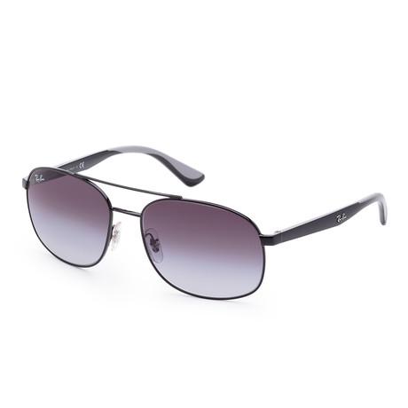 Men's Designer Sunglasses // 58mm // Black Frame