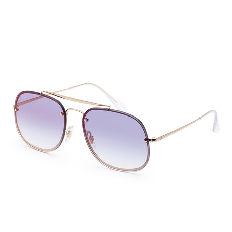 Unisex Blaze Sunglasses // 58mm // Gold Frame + Gradient Lens