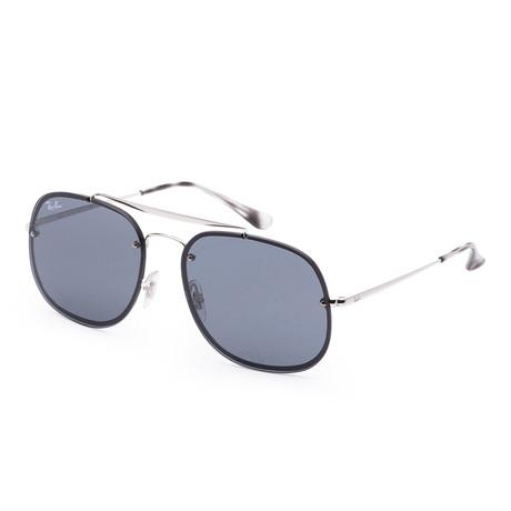 Unisex Blaze Sunglasses // 58mm // Silver Frame