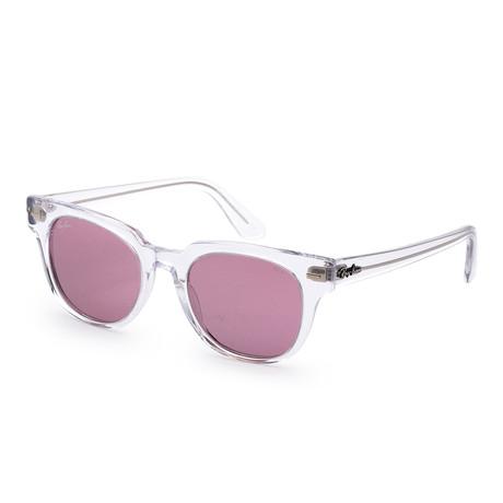 Unisex Meteor Evolve Sunglasses // 50mm // Transparent Frame + Violet Lens
