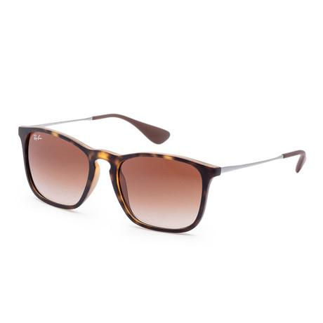 Unisex Chris Sunglasses // 54mm // Rubber Havana Frame