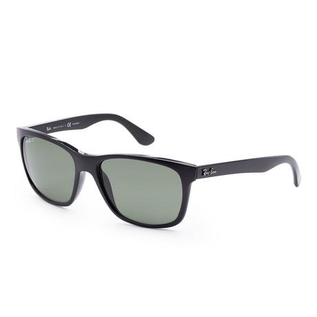 Unisex Wayfarer Sunglasses // 57mm // Shiny Black Frame