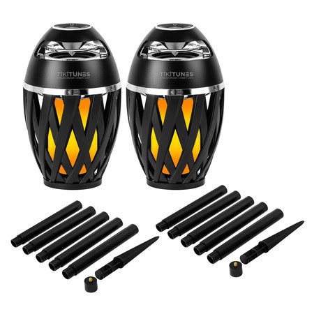 Bluetooth Wireless Speakers // LED Atmospheric Lighting Effect + Ground Stakes // Set of 2
