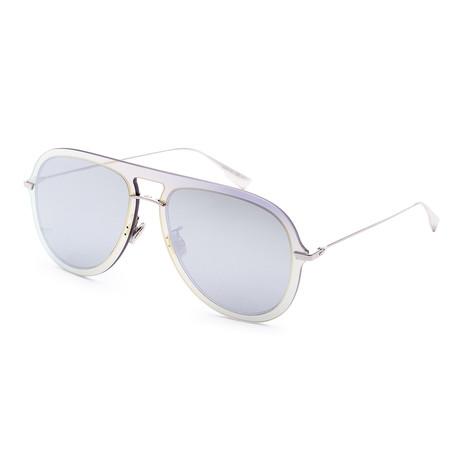 Women's DIORULTIME1-083I-0T Sunglasses // Blue Horn + Gray Silver