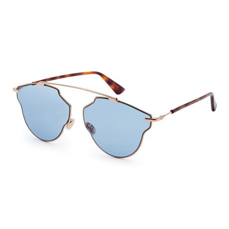 Women's SOREALPOPS-0DDB-59AP Sunglasses // Gold Copper + Blue