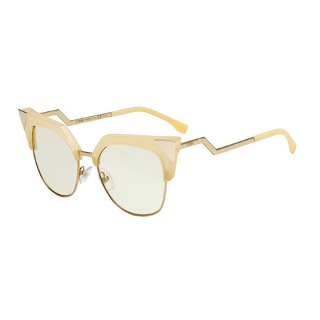 Women's Fashion Sunglasses // 54mm // Yellow Frame