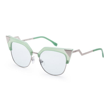 Women's Fashion Sunglasses // 54mm // Green Frame