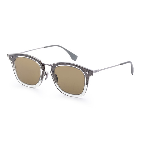 Men's Fashion Sunglasses // 47mm // Gray + Green Frame