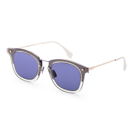 Men's Fashion Sunglasses // 47mm // Gray + Blue Frame