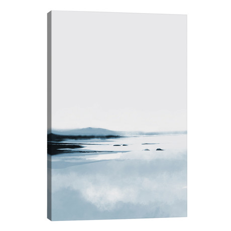 "Calm Lake // Dan Hobday (26""W x 40""H x 1.5""D)"