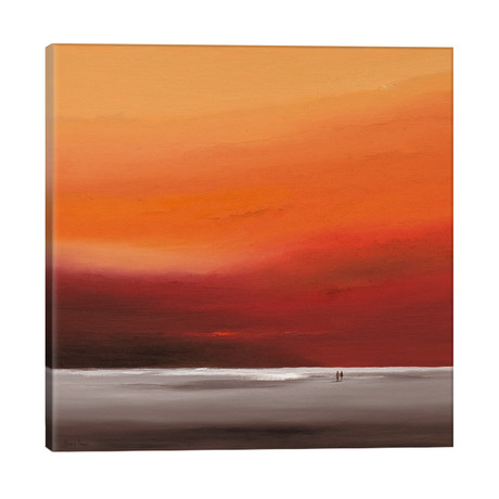 "Attractive Red II // Hans Paus (26""W x 26""H x 1.5""D)"