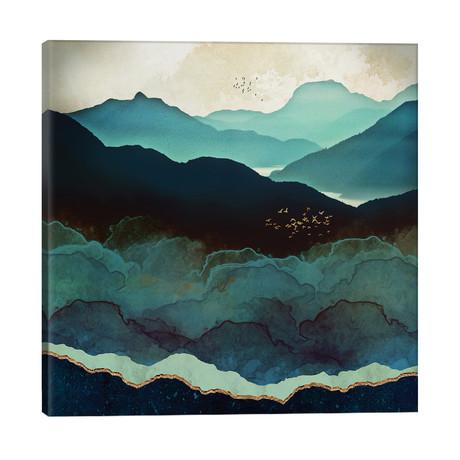 "Indigo Mountains // SpaceFrog Designs (26""W x 26""H x 1.5""D)"