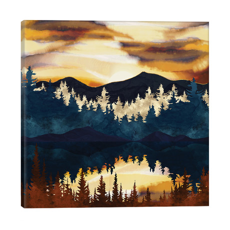 """Fall Sunset // SpaceFrog Designs (26""""W x 26""""H x 1.5""""D)"""