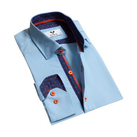 Reversible Cuff Button-Down Shirt // Light Blue (S)