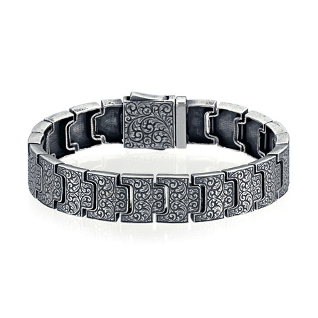 "Florence Inlaid Bracelet // Silver (7"")"