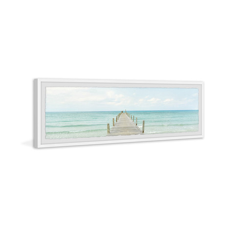 """Take Me to the Beach // Framed Painting Print (30""""W x 10""""H x 1.5""""D)"""