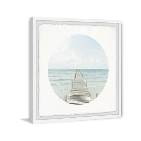 """Path to Sea // Framed Painting Print (12""""W x 12""""H x 1.5""""D)"""