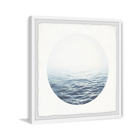 "Blue Light // Framed Painting Print (12""W x 12""H x 1.5""D)"