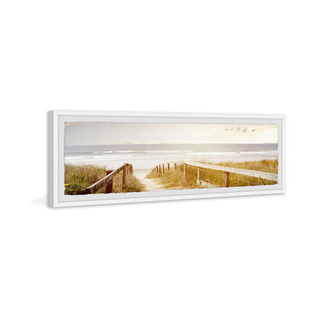 """As Bright as the Sky // Framed Painting Print (30""""W x 10""""H x 1.5""""D)"""