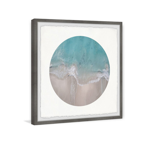 """Beach and Waves // Framed Painting Print (12""""W x 12""""H x 1.5""""D)"""