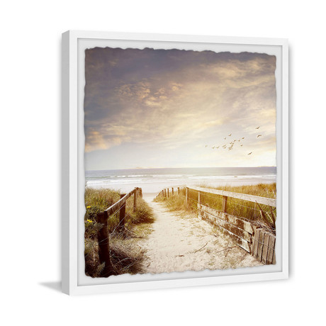 """Radiant Road To The Sea (12""""W x 12""""H x 1.5""""D)"""