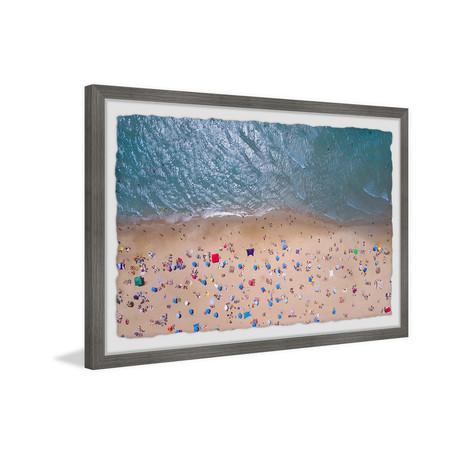 "Summer at the Beach // Framed Painting Print (12""W x 8""H x 1.5""D)"