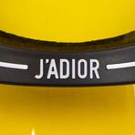DiorClub 1 Logo Sun Visor Hat // Black + Yellow