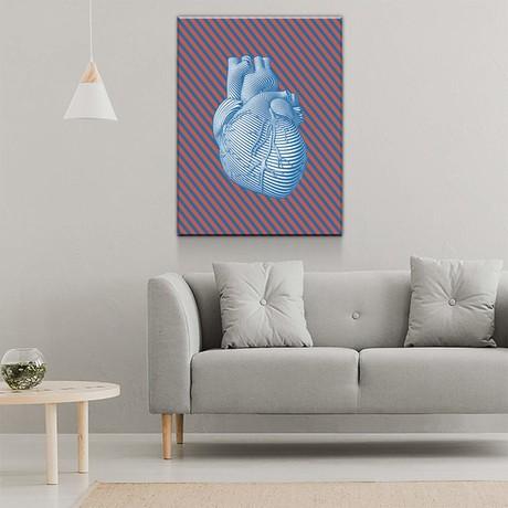 """Pop Heart (24""""W x 18""""H x 0.75""""D)"""