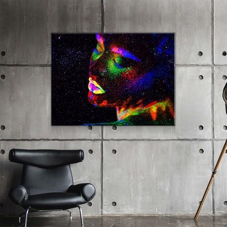 "Fluorescent Dreams (24""W x 18""H x 0.75""D)"