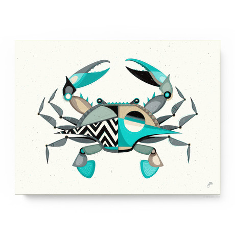 """Blue Crabby (24""""W x 18""""H x 1.5""""D // Gallery Wrapped)"""
