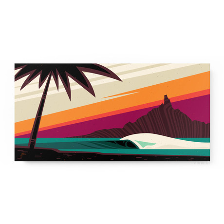 """Sun Downer (24""""W x 12""""H x 1.5""""D // Gallery Wrapped)"""