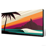 "Sun Downer (24""W x 12""H x 1.5""D // Gallery Wrapped)"