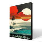 """Sunset Moonrise (18""""W x 24""""H x 1.5""""D // Gallery Wrapped)"""