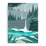 """Over the Falls (18""""W x 24""""H x 1.5""""D // Gallery Wrapped)"""