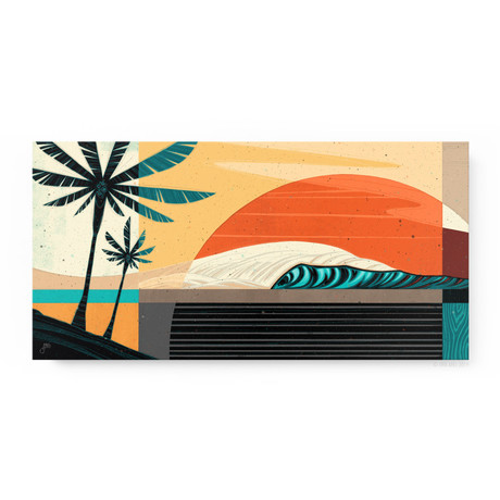 """Tropic Sol (24""""W x 12""""H x 1.5""""D // Gallery Wrapped)"""