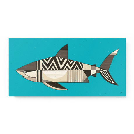 """White Shark (24""""W x 12""""H x 1.5""""D // Gallery Wrapped)"""